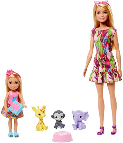 Barbie and Chelsea The Lost Birthday Playset with Barbie & Chelsea Dolls, 3 Pets & Accessories, Gift for 3 to 7 Year Olds