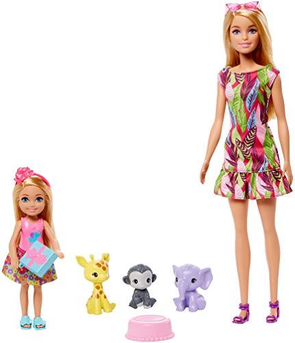 Barbie Playset il Compleanno Perduto con Bambole Barbie e Chelsea, 3 Animaletti e Accessori, Giocattolo per Bambini 3+Anni,GTM82