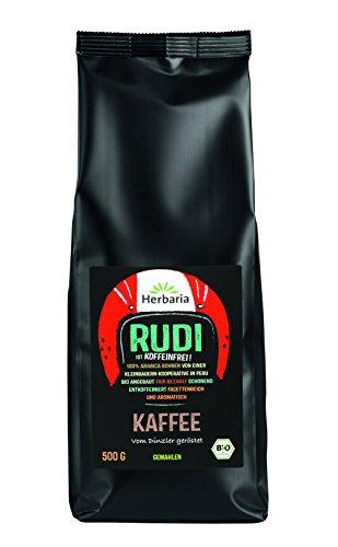Herbaria Kaffee Rudi, entkoffeiniert, gemahlen (500 g) - Bio