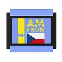 私はチェコ人です デスクトップフォトフレーム画像ブラックは、芸術絵画7 x 9インチ