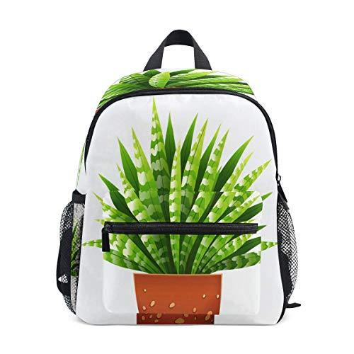 Rucksack Kinderschule Rucksack Tropische Zimmerpflanze Schöne süße Aloe Kindergarten Bookbag Schultasche für Mädchen Jungen