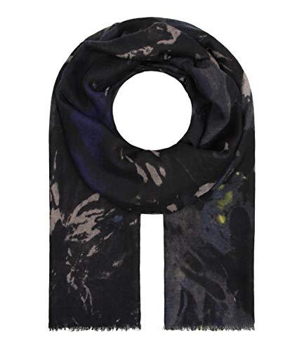 Majea Schal Damen Tuch Kopftuch Halstuch Schals und Tücher mit Muster Stola (navy 15)
