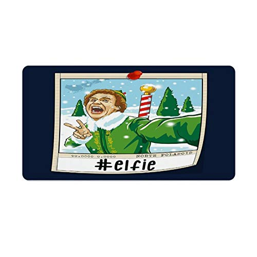 Elf Will Ferrell Selfie Christmas Polaroid Large Gaming Mouse Pad 16X30in Office Mouse Pad Rubber Table Pad Locking Keyboard Computer Desk Pad