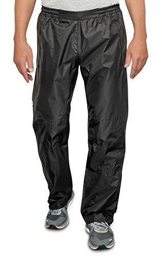 CYCLEHERO Fahrrad Regenhose (Verschiedene Größen) - Regenhose Herren wasserdicht aus reißfestem Polyester mit reflektierenden Elementen - Farbe: Schwarz oder Neongelb