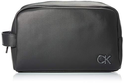 Calvin Klein Herren WASHBAG Reisezubehör- Reisebrieftasche, Black, One Size