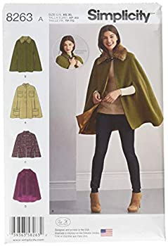 Simplicity 8263 Women s Cape and Capelets Sewing Patterns Sizes XS-XL