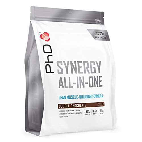 PhD Nutrition Synergy ISO-7 All-in-One Whey Protein Powder, Double Chocolate, 2 kg
