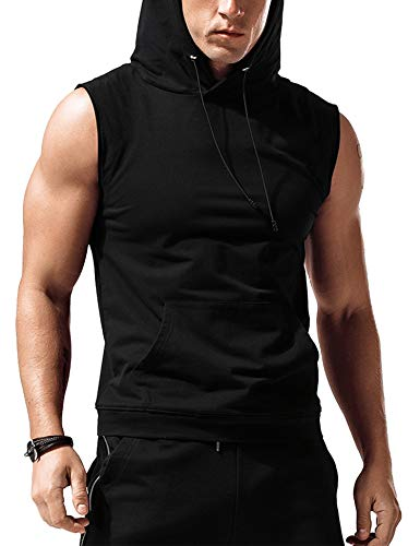 Babioboa Men's Hooded Tank Top Muscle Cut Off Gym Vest...