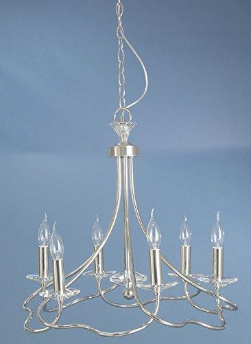 Bankamp Kronleuchte Krone Silber 6-flg. Lüster Leuchte Modern 1090/6-92