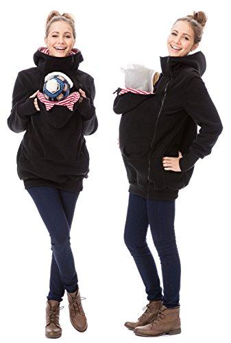 GFWL Tragejacke #Känguru Mama Baby Trage Jacke Allround Fleece GF2301XM, Größe Damen EU:40 Large