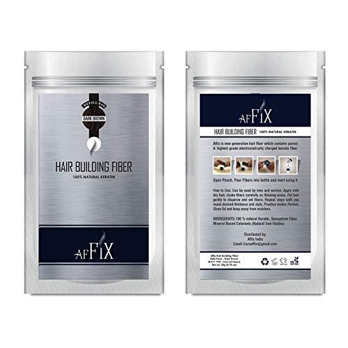 Affix Hair Building Fiber Refill Pack Dark Brown 20 Grams