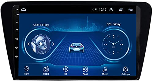 Android 10 Car Stereo GPS De Navegación para Skoda Octavia 2014-2018 Vídeo Estéreo Auto Radio Soporta Android/iOS Mirror Link,1+16G WiFi