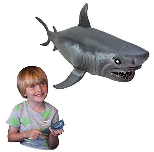 Rep Pals - Tiburón Blanco, Juguetes elásticos de Deluxebase. Réplicas de Animales súper...