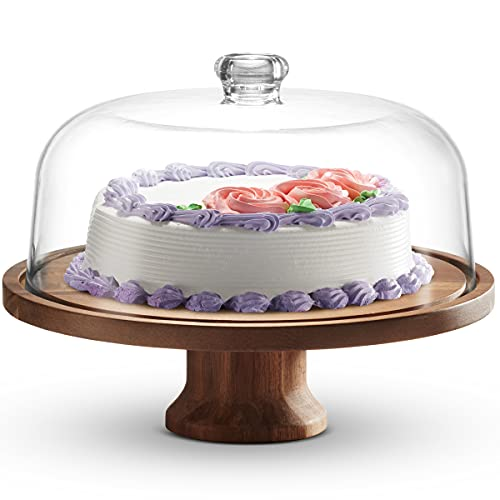 Godinger Cake Stand, Footed Cake Plate with Dome,...