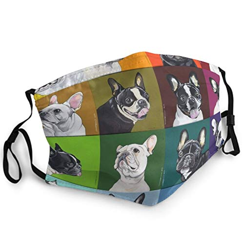 Unisex Face Mask French Bulldog Pet Balaclava Fashionable Style Face Decorations For Climbing, Running, Hiking, Shopping Mouth Cover