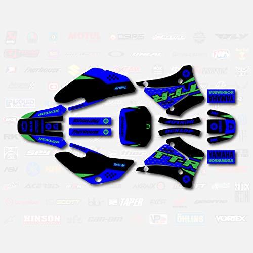 Black Blue Green Shift Racing Graphics Kit fit 00-07 YAMAHA TTR125 Sticker Decal TTR 125