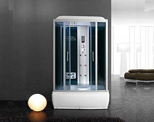 Box idromassaggio con vasca misure 120x85x216 cabina con cromoterapia ozonoterapia radio I