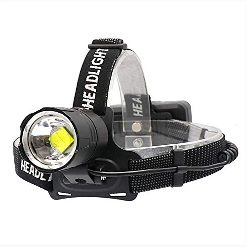 Lámpara de cabeza LED Linterna frontal con luz de flash, 50000 lúmenes Linterna frontal LED de alta potencia Xhp70 Lámpara frontal Lampe Frontal USB Faros delanteros con zoom de campamento Lámpara pri