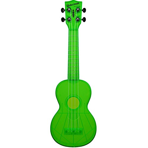 Kala Waterman Soprano Ukulele Fluorescent Green