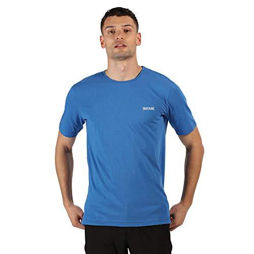 Regatta T- Shirt Technique en Coton Manches Courtes TAIT léger et Respirant Polos/Vests Homme, Nautical Blue, FR : S (Taille Fabricant : S)