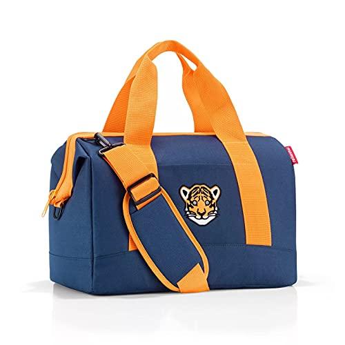 Reisenthel Allrounder M Kids Tiger Navy Blau Kinder Reise Tasche für Jungen und Mädchen aus wasserabweisendem Polyestergewebe mit 18 Liter Volumen - Maße (B x H x T in cm): 40 x 33,5 x 24