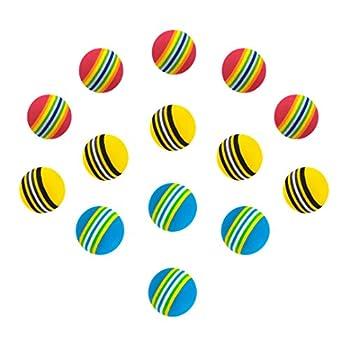 Chiwava 45 pcs 4,2 cm Jouet Balle pour Chat en Mousse Boule Couleur Arc-en-Ciel Chaton activité Chase Play Mix Couleur