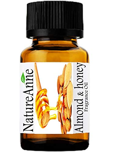 Premium Grade Fragrance Oil - 10ml - Scented Oil - for Diffuser Oils, Making Soap, Candles, Lotion, Home Scents, Linen Spray, Lotion, Perfume, Beard Oil, (10ml, Almond & Honey)