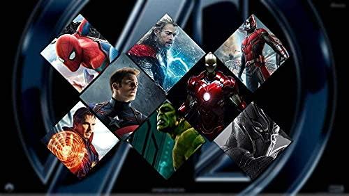 NSRJDSYT Puzzle da 1000 Pezzi per Adulti Bambini Paperpuzzles - Avengers: Infinity War 3D Stampa Immagini HD per Bambini Regalo educativo - Giocattolo di decompressione Fai da Te per Adulti 38x26cm