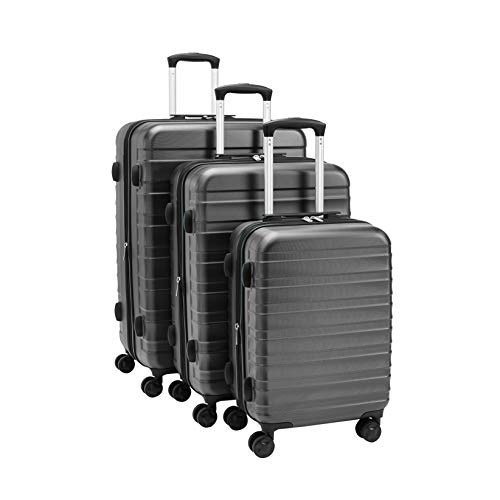 "AmazonBasics 20""/24""/28"" Luggage Set, Grey"