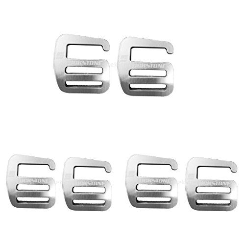 Magideal 6pcs Fibbia con Cinturino in Metallo 10x G, Leggera e Resistente, 25 Mm di Argento