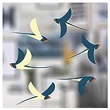 Stickers pour fenêtre - 6 Superbes Stickers électrostatiques décoratifs au Motif Hirondelles – Permet d'éviter Que Les Oiseaux ne Se cognent dans Vos fenêtres