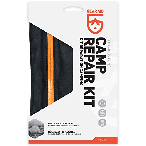 Photo of a white colored box of GEAR AID Tenacious Tape Camp Repair Kit