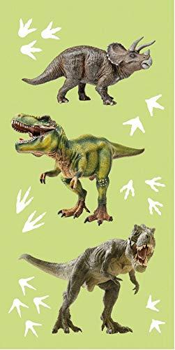 BrandMac ApS Tyrannosarurus Dino Toalla de mano (70 x 140 cm, algodón), diseño de dinosaurio