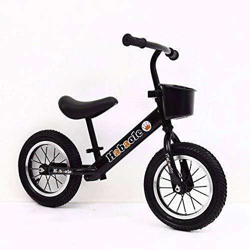 LIDU Tragbare Mini Kinder Balance Bike Keine Pedal Kind Kinder Reiten Push Glid Buggy Schiebe Spielzeug Fahrrad 2-6 Jahre alte Baby Walker BMX,Black
