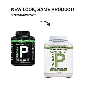 PROMIX Premium Vegan Protein + B12, Organic Complete Protein Plant Based Blend, Gluten-Free, Soy Free, 5lb Bulk #1