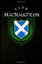 Clan MacNaughton: Scottish Clan St. Andrew's Cross Shield - Blank Lined Journal with Soft Matte Cover