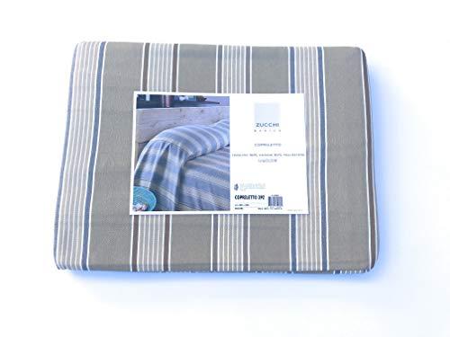 Zucchi Basics Couvre-lit pour lit 2 Personnes 260 x 250 cm baiadera 2 Places Beige avec Rayures