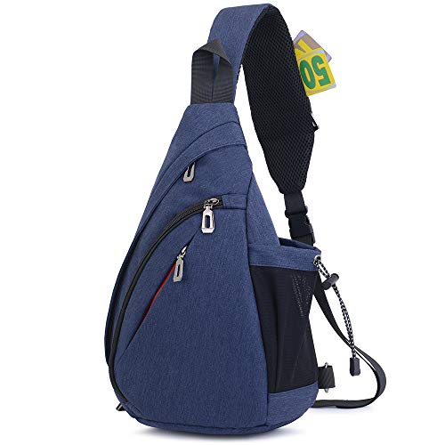 JSDing Sling Rucksack Herren Damen | Brusttasche Sling Bag Sport | Umhängetasche Schulterrucksack Fahrradrucksäcke Cross Bag für Outdoor Wandern Bergsteigen Reisen