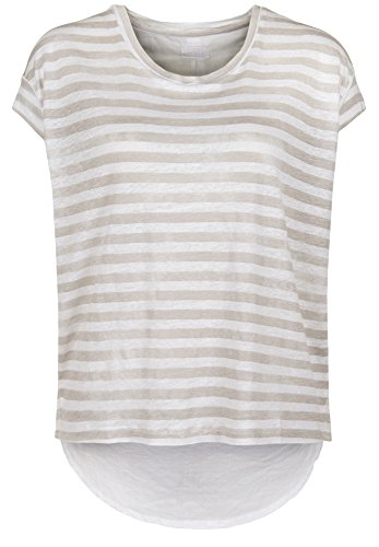 Blaumax -  T-shirt - Basic - Maniche corte  - Donna beige stripe X-Small