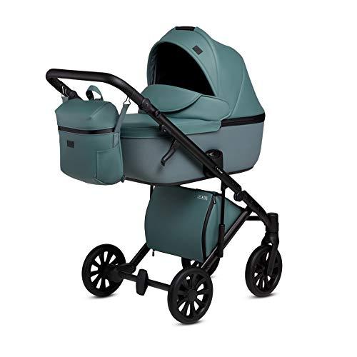 Kombi Kinderwagen Buggy Sportwagen Travel System Anex E/Type (Aqua CrN-14, 2in1)