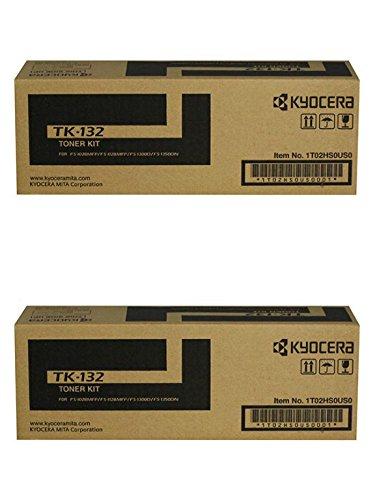 Kyocera TK-132(TK132) Cartucho de tóner Negro Pack de 2para FS-1028MFP, FS-1128MFP, FS-1300DN, FS-1350DN