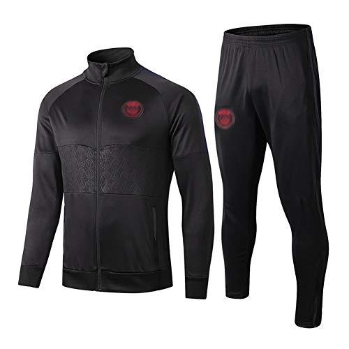 TD Fußball-Trainingsanzug Verein Adult-Jugend-Sweatshirt Langarm-Jogging BreathableTop Und Hosen-Anzug Breath Q70001 (Size : L)