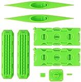 Cherish Dekoration Sandleiter Rückgewinnungsbrett + Kanu + Simulation Kraftstofftank für 1/10 RC Crawler Auto wetterfest grün -