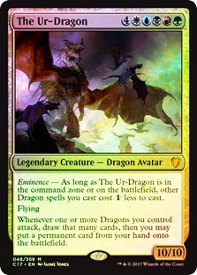 Magic: The Gathering - Oversized Foil - The Ur-Dragon - Commander 2017