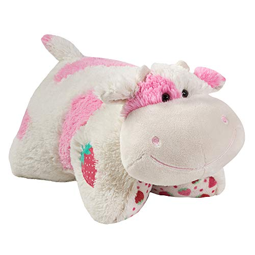 Pillow Pets Sweet Scented Pets -  Strawberry Milkshake Cow, Strawberry Milkshake Scented  Stuffed Animal Plush Toy