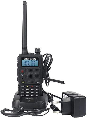 Retevis RT5 Walkie Talkie Professionali 128 Canali Allarme VOX FM Radio Flashlight 1400mAh Ricetrasmittente Lunga Distanza WalkieTalkie Professionali (Nero,1 Pezzo)