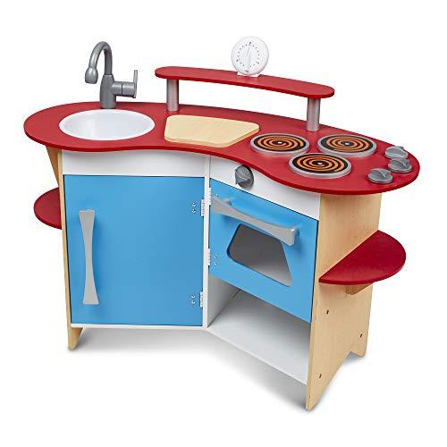 Melissa & Doug Cook's Corner Wooden Kitchen,Multi Colored