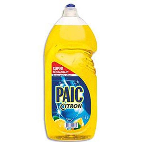 Lot de 2 Flacons d'1,5 litres de liquide vaisselle parfumé au citron Excel+, dégraissant concentré