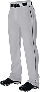 Alleson Adult Pro Warp-Knit Open Bottom Baseball Pants W/Piping