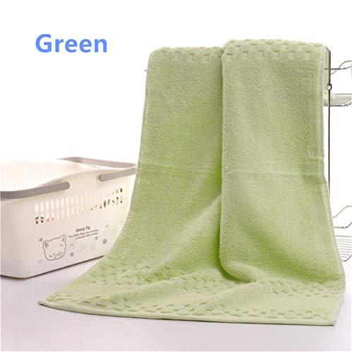 Gbcyp Handdoeken Egyptische katoenen badhanddoeken voor volwassenen Badlakens Zachte gezichtswashanddoeken, groen, 40x75cm